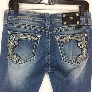 Miss Me Jeans 28 JP5853B Boot Cut Distressed
